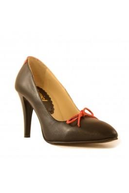 Pantofi Mopiel negri din piele naturala