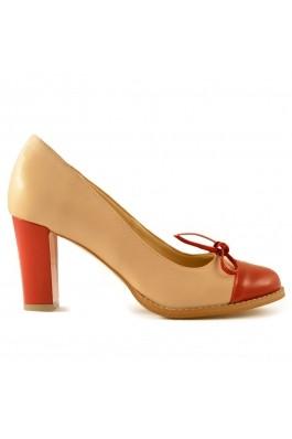 Pantofi Mopiel din piele naturala si piele lacuita