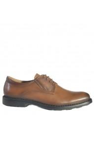 Pantofi din piele Mopiel 140406/Tabaco/Berry Mro