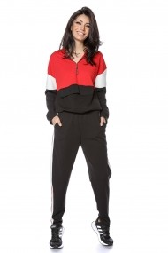 Trening Roh Boutique de dama, lejer, negru/rosu - ROH - TR359 black-red