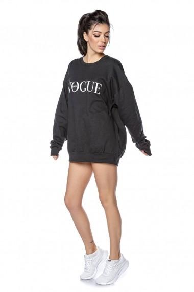 Hanorac Roh Boutique negru, oversize - ROH - BR2294 negru