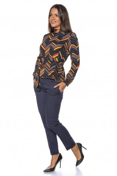 Bluza Roh Boutique multicolora, ROH, cu cordon - BR1884 multicolor