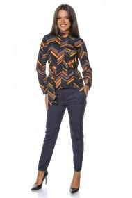 Bluza Roh Boutique Multicolora, ROH, cu cordon - BR1884 Multicolora