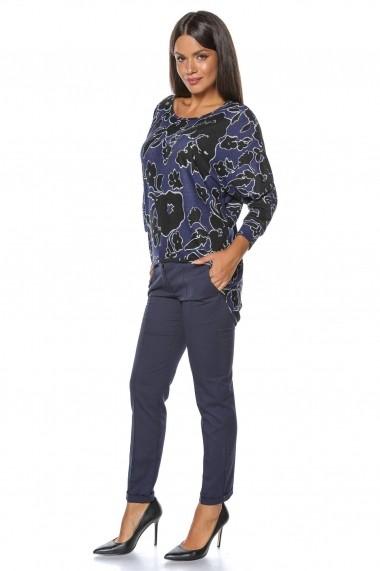 Bluza Roh Boutique mov, ROH, cu imrpimeu floral - BR1885 multicolor