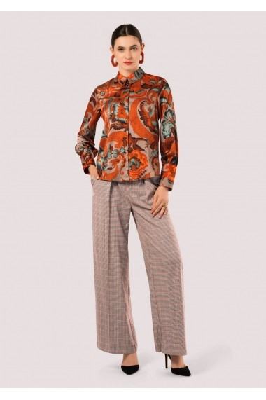 Bluza Roh Boutique portocalie, ROH, cu maneci lungi - BR1886 portocaliu|multicolor