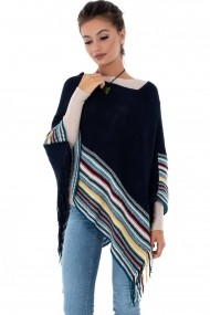 Poncho Roh Boutique BR1903 Bleumarin