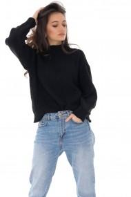 Pulover Roh Boutique negru, tricotat, casual ROH - BR2282 negru