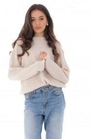 Pulover Roh Boutique crem, tricotat, casual ROH - BR2290 crem