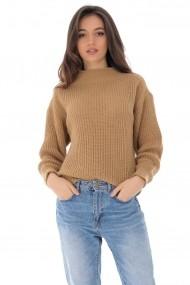Pulover Roh Boutique bej, tricotat, casual ROH - BR2289 bej