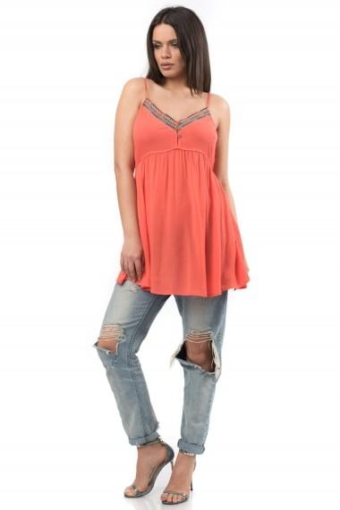 Rochie de zi Roh Boutique orange de vara - DR2866 orange