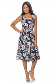 Rochie de zi Roh Boutique - DR3499 neagra|multicolora