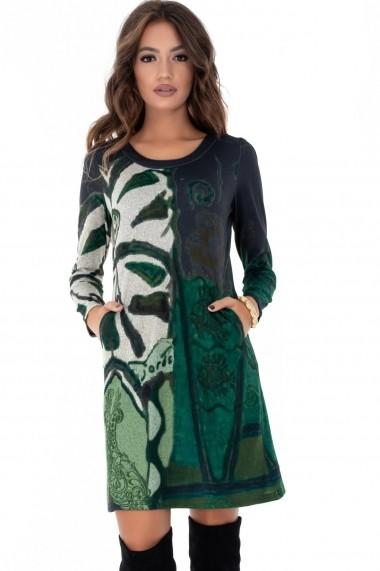 Rochie de zi Roh Boutique DR3575 verde