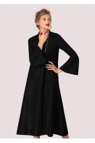 Rochie de seara Closet London neagra, ROH, oversize - DR3605 neagra