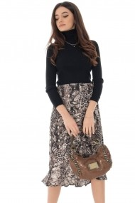 Fusta dreapta Roh Boutique FR468 Animal Print