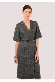 Rochie de zi Roh Boutique - DR3560 gri, neagra