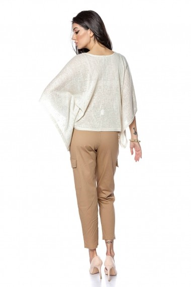 Pantaloni largi Roh Boutique clasici, bej, cargo- ROH - TR363 bej