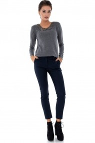 Pantaloni drepti Roh Boutique TR288 Bleumarin