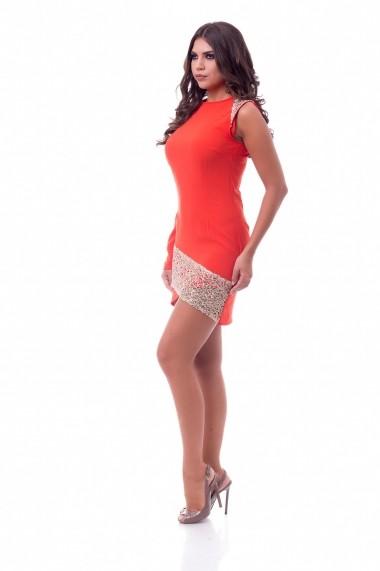 Rochie de zi de zi Naomi DoubleYou DBL-WRN01 Corai