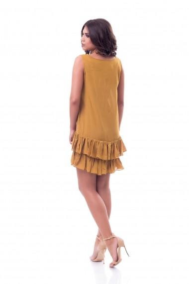 Rochie DoubleYou Store Summer Waves Mustard