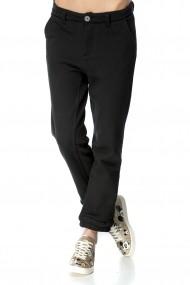 Pantaloni largi Gwen Black Negru