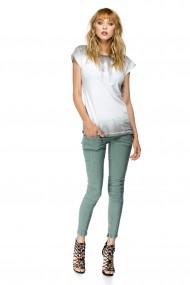 Pantaloni skinny Vicky Grey-Green Verde
