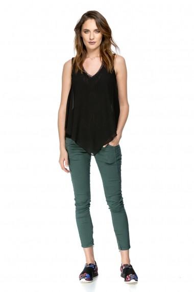 Pantaloni skinny Vicky green Vernil