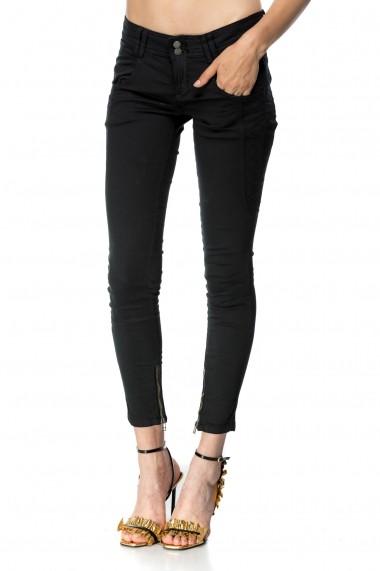 Pantaloni skinny Vicky Black Negru