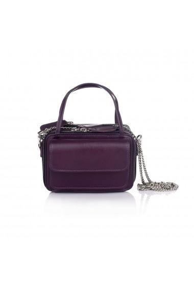 Mini geanta RENA mov din piele naturala model Carly RNXS002-19N