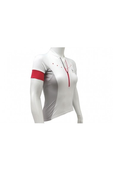 Tricou Odlo Stand-Up Collar S/S 1/2 Zip Gavia 410891-10000