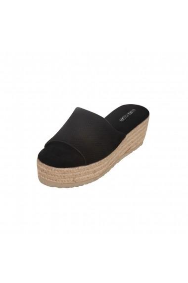 Papuci cu platforma Rammi RMM-a23001 Negri