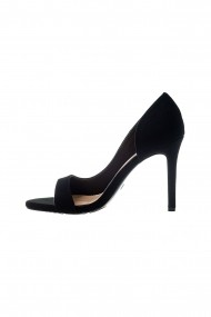 Sandale Rammi negre cu aspect catifelat
