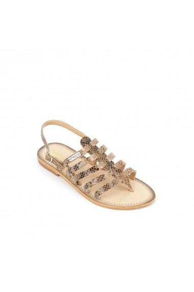 Sandale LES TROPEZIENNES par M BELARBI GGH961 gri-bej