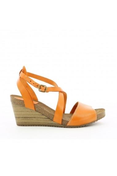 Sandale cu platforma KICKERS GGB332 portocaliu