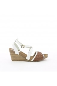 Sandale cu platforma KICKERS GGB335 alb