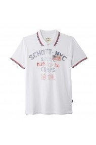 Tricou Polo SCHOTT GGK883 alb