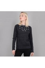 Пуловер MOLLY BRACKEN GFK573-charcoal_grey сиво