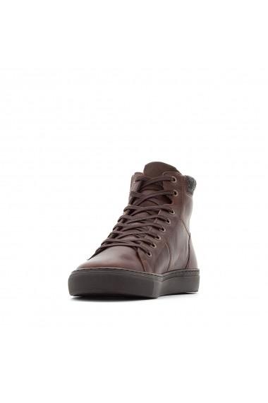 Pantofi hightop La Redoute Collections GFE764 maro