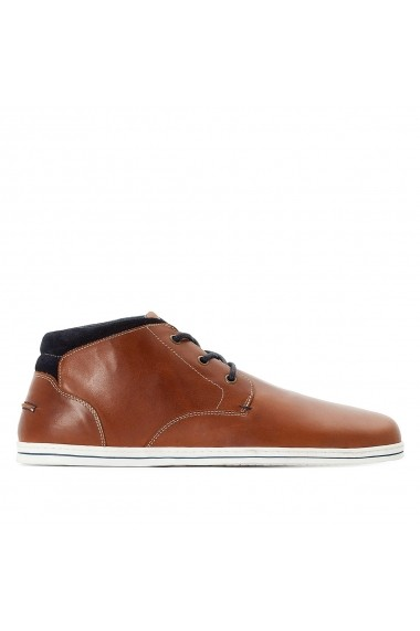 Pantofi hightop La Redoute Collections GFE766 maro