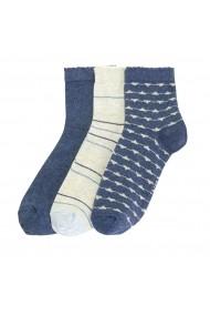 Комплект от 3 чифта чорапи La Redoute Collections LRD-GFO314-blue_beige синьо