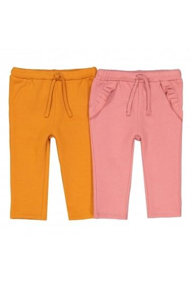 Set 2 perechi pantaloni La Redoute Collections GET712 roz