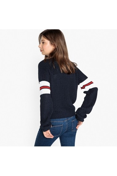 Pulover La Redoute Collections GEU590 bleumarin - els