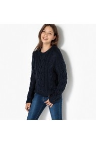 Pulover La Redoute Collections GEU593 bleumarin - els