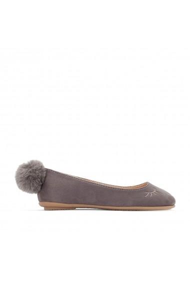 Pantofi cu toc La Redoute Collections GEY049 gri - els