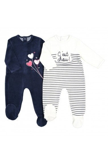 Set 2 pijamale La Redoute Collections GES419 bleumarin