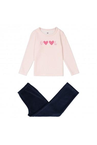 Pijama La Redoute Collections GES728 roz - els