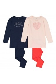 Set 2 pijamale La Redoute Collections GET218 bleumarin - els
