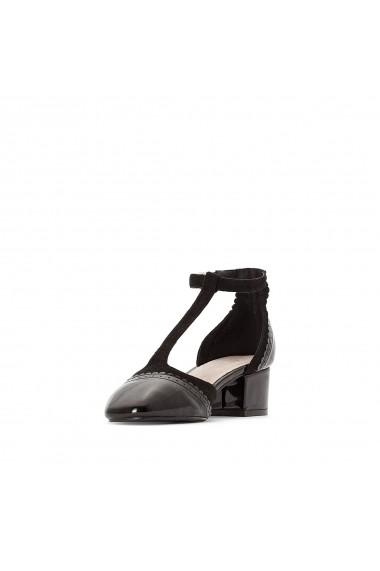 Pantofi cu toc La Redoute Collections GET350 negru
