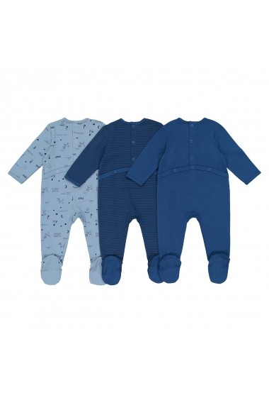 Set 3 pijamale La Redoute Collections GEQ476 albastru