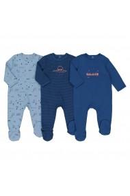 Set 3 pijamale La Redoute Collections GEQ476 albastru - els