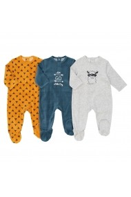 Set 3 pijamale La Redoute Collections GEQ478 gri